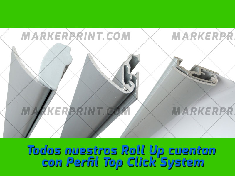Roll Up Gray Click System
