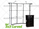 Wall Pop Up Curved Aluminum