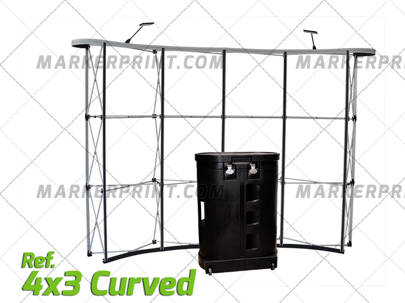 Wall Pop Up 4x3 Curved Aluminum 01